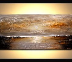 """Modern Art Poster on Photographic Paper - Sunset - 48""""x24"""" - Art by Osnat"""