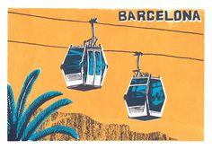 Barcelona 3 colour screen print experiment