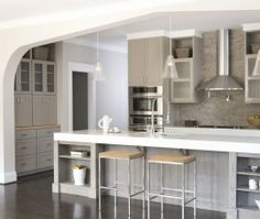 Modern Island Style Grey kitchen, grey cabinets, TerraCotta Properties,