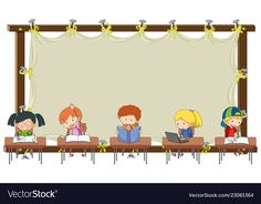 Student on empty banner vector image on VectorStock Certificate Frames, Certificate Design, Classroom Displays, Classroom Decor, Alphabet Writing Practice, School Border, Boarders And Frames, School Frame, Background Powerpoint