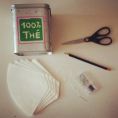 Des sachets de thé personnalisés DIY} Tea Party, Tableware, Gifts, Ticket, Html, Lifestyle, Craft, Crochet, Ideas