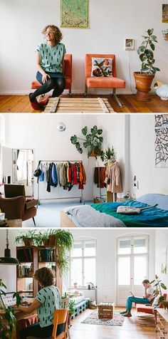 Color makes a statement in designer Alex Bender's modern home. #etsy