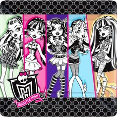 Monster High Dinner Plates 8ct