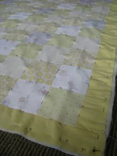 How to pin baby quilt before stitching in the ditch
