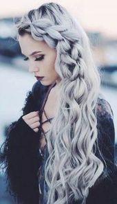 Nails Dark Blue Silver Grey Hair Ideas - All For Hair Color Balayage Pretty Hair Color, Hair Color Purple, Hair Dye Colors, Blue Hair, Pink Hair, Color Black, Hair Color Ideas For Brunettes Balayage, Silver Grey Hair, Aesthetic Hair