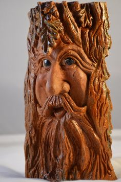 Unique Wood Carving Spirit One of a Kind by SusanAlexanderCarves, $70.00