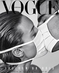 fashion magazine Vogue Portugal Magazine cover is titled quot;Freedom on hold fear will not stop us. Black And White Photo Wall, Black And White Pictures, Peter Lindbergh, Vogue Portugal, Mode Poster, Gig Poster, Poster Prints, Plakat Design, Vogue Magazine Covers