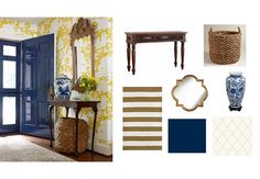 Clean and simple entryway ideas inspired by spring
