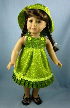 18 Inch Doll Clothes   Sundress and Hat in by SewMyGoodnessShop, $25.00