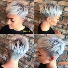 30 meilleures coiffures Pixie court 2018 – New Ideas – Short Hair New Short Hairstyles, Short Layered Haircuts, Older Women Hairstyles, Undercut Hairstyles, Trending Hairstyles, Pixie Hairstyles, Short Hair Cuts, Straight Hairstyles, Cool Hairstyles
