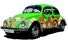 What a fun idea! A vintage VW Beetle as a mobile photo booth.