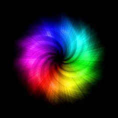 Rainbow spiral fractal color pop