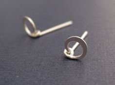 Tiny Teeny Circle Posts sterling silver wire stud by muyinmolly, $13.00