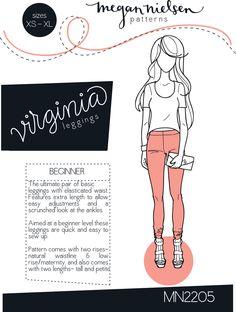 Megan Nielsen - Virginia Leggings Pattern - $12.00 - ♥♥♥