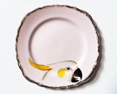 Beautiful Birds plate set by yvonneellen on Etsy