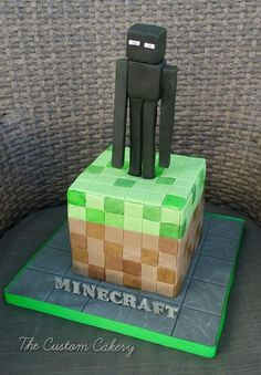 Minecraft Endermen - Cake by The Custom Cakery