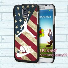 "Vintage Us Flag Nike Air  For Samsung Galaxy S5 5.1"" screen Black Case"