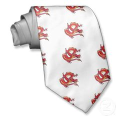 Chasing the Dragon (red) Tie  http://blog.hepcatsmarketing.com/