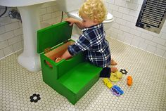 DIY Network Storage Step Stool