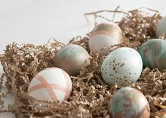 Speckled, marbled + washi wrapped Easter eggs