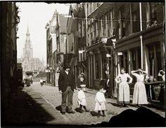 Amsterdam, foto van fotograaf Jacob Olie, gemaakt op 21 september 1894. De Grote…