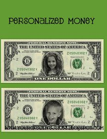 Personalized Money For Kids To Earn Chores Or Good Behavior Be Spent If They