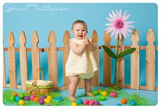 easter mini session fence eggs props