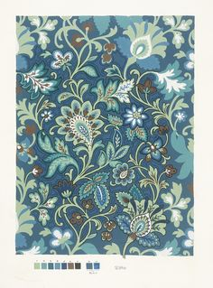 Paisley, Paper design, French, 1951. | Surface View