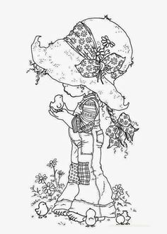 Sarah Kay Fargelegging for barn 1 Holly Hobbie, Free Printable Coloring Pages, Coloring Book Pages, Free Printables, Free Coloring, Coloring Pages For Kids, Kids Coloring, Fairy Coloring, Sarah Kay Imagenes