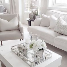 Morning Monday interior motivation . #allwhite #interior #living #home #homedecor #inspo #instagram