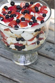 Yummy trifle for 4th of July