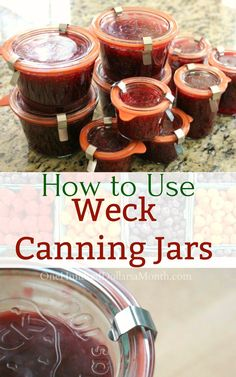 How to Use Weck Canning Jars, Weck Canning Jars, Weck, Weck Canning Recipes Canning Pressure Cooker, Pressure Canning Recipes, Canning Tips, Home Canning, Pressure Cooking, Canning Food Preservation, Preserving Food, Weck Jars, Mason Jars