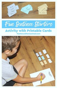 We played a game once to get ideas for writing sentences. Now, we have made another fun sentence starters activity with printable cards.