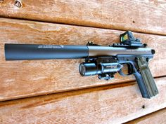 """weaponslover: """" Suppressed Ruger with a Trijicon RMR and Surefire """" Weapons Guns, Guns And Ammo, Glock Guns, Revolver, Ruger 22 45, Survival, Fire Powers, Surefire, Cool Guns"""