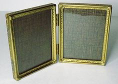 Vintage 3.75x2.75 Folding Brass Picture Frame Vintage Photo Frames, Brass, Unique Jewelry, Handmade Gifts, Etsy, Kid Craft Gifts, Craft Gifts, Costume Jewelry, Diy Gifts