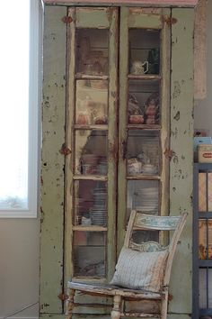 distressed cupboard...