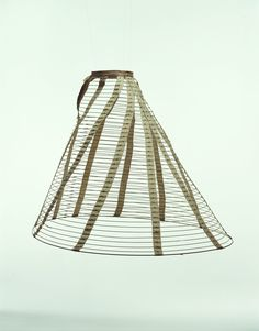 Kyoto Costume Institute- these steel hoops helped shape the most popular form of skirts from this time period.