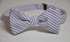 Bowtie for Little Boys Lavender Stripe Seersucker by MeandMatilda