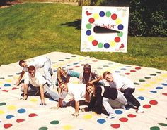 Giant Twister Mat... We must make a giant spinner to go with our mat!