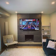 TV Installation Service Toronto - TV Wall Mounting & Home Theater Tv Mount Over Fireplace, Fireplace Tv Wall, Tv Wall Mount Installation, Home Theater Installation, 65 Inch Tvs, Tv Unit Design, Home Theater Rooms, Lounge Design, Wall Bar
