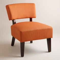 One of my favorite discoveries at WorldMarket.com: Saffron Orange Lucas Chair
