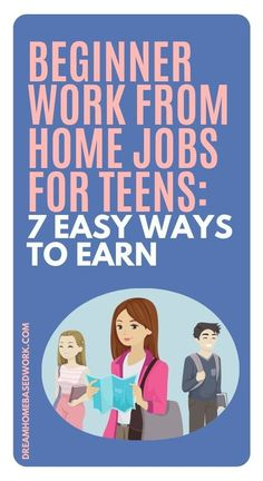 Teens can take advantage of work from home opportunities too! Here are 7 beginner work from home jobs for teens. Try one today! #teen #jobs #workathome