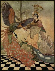 An illustration for Aladdin by Thomas Mackenzie.