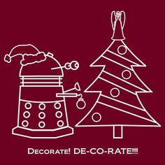 """A Very Dalek Christmas - Dark"" T-Shirts & Hoodies by NevermoreShirts   Redbubble"