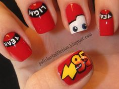 Cars Nails. I'd just do the eyes and 95