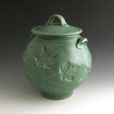 Handmade Pottery Hand thrown Stoneware Jar by baumanstoneware, $152.00