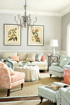 Living room in Coral + Mineral !