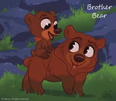 Brother bear, Koda and Kinai CHIBI - walt-disney-characters Fan Art Disney Pixar, Walt Disney Animation, Disney Fan Art, Walt Disney Characters, Film Disney, Disney And Dreamworks, Disney Cartoons, Disney Movies, Animation Movies
