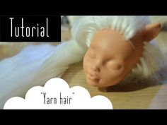 Easy methods on how to make bangs and short hair when creating doll wigs! This video was being edited when my hard drive crashed and I ended up losing some f. Hair Yarn, Yarn Wig, Yarn Dolls, Fabric Dolls, Diy Ooak Doll, Ooak Dolls, Handmade Dolls, Barbie Hair, Doll Hair