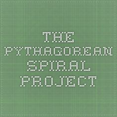 The Pythagorean Spiral Project